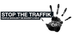 STOP THE TRAFFIK Logo Black with Hand
