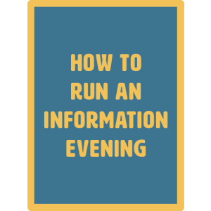 how to run info evening